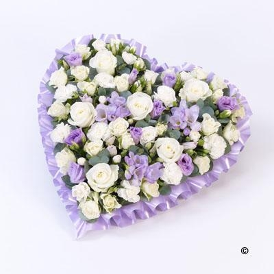 Pastel Heart   Lilac and White