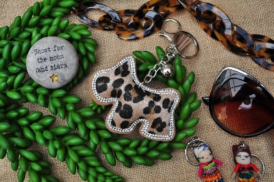 Dog Shaped Keyring or Bag Charm
