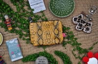 Faux Snakeskin Coin Purse