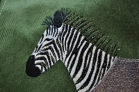 Zebra Applique Shoulder Bag